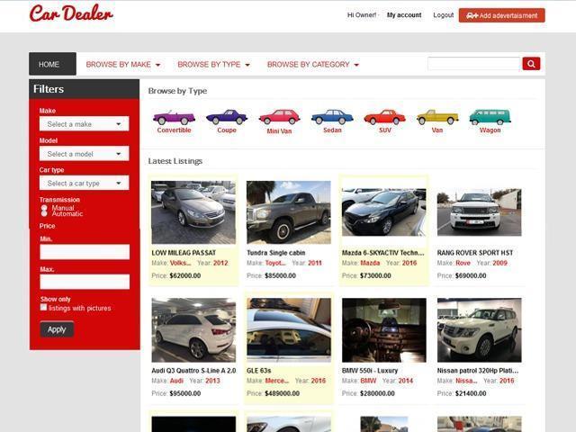 Car Dealer Osclass Theme - 1