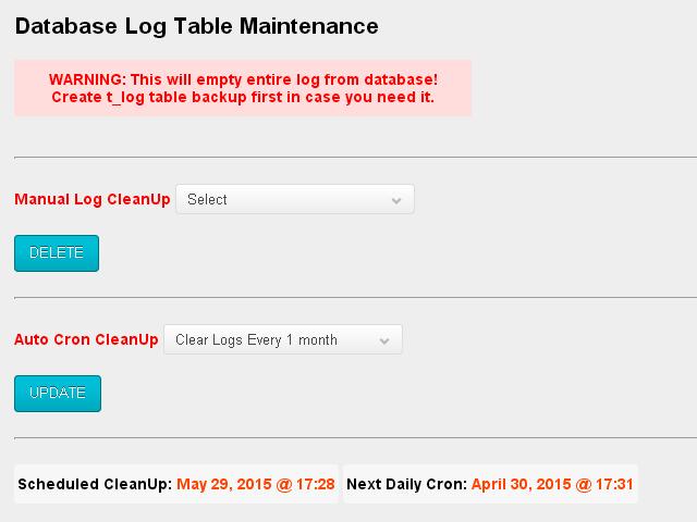 Database Log Table - 2